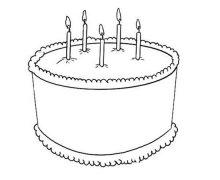 大生日蛋糕简笔画