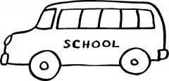 校车简笔画