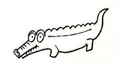 幼儿园鳄鱼简笔画图片