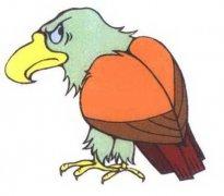 彩色老鹰简笔画图片