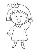 儿童关于樱桃小丸子简笔画图片