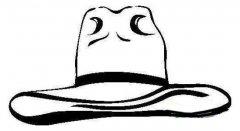 美国牛仔帽子简笔画图片