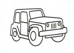 吉普车简笔画图片