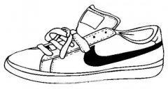 儿童耐克运动鞋子简笔画图片