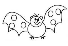 小学生可爱蝙蝠简笔画图片