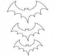 蝙蝠翅膀简笔画图片