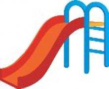 彩色的滑滑梯简笔画