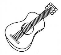 少儿乐器吉他简笔画图片