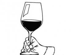 红酒杯简笔画图片