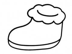 少儿雪地靴简笔画图片