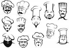 多款厨师帽简笔画图片大全