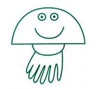 小学生可爱水母简笔画图片