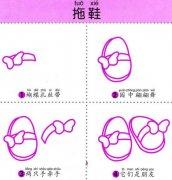 儿童拖鞋的简笔画画法教程:如何画拖鞋