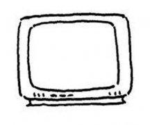 儿童小电视简笔画图片