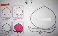 桃子简笔画的画法教程