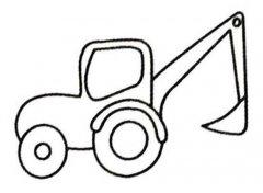 幼儿园最简单的挖掘机简笔画图片