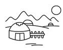 蒙古包简笔画图片画法步骤