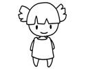 小女孩简笔画图片