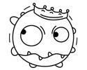 新型冠状病毒的外形简笔画图片