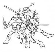 儿童卡通忍者神龟简笔画图片