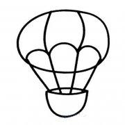 儿童简单的热气球简笔画图片