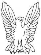 老鹰标志简笔画图片大全