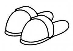 幼儿关于冬天棉拖鞋的简笔画图片