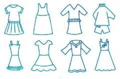 儿童各种裙子简笔画图片大全