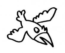 小学生飞翔乌鸦简笔画图片大全