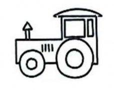 简单的拖拉机简笔画图片
