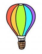 彩色美丽的热气球简笔画图片
