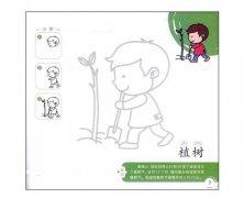 植树简笔画画法步骤