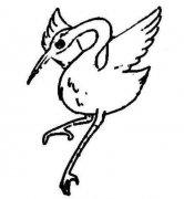 白鹤简笔画图片