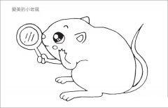 爱美的小老鼠简笔画