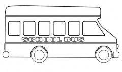 儿童校车巴士简笔画图片大全