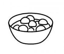 一碗汤圆简笔画图片