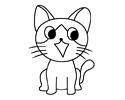 小猫咪简笔画图片