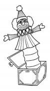 弹簧小丑盒简笔画图片