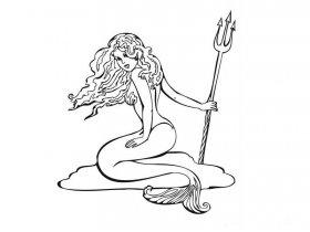 美人鱼简笔画画法
