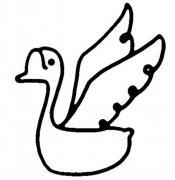 幼儿园关于天鹅的简笔画图片