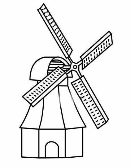 幼儿农场风车简笔画图片