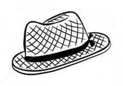 农民草帽简笔画图片
