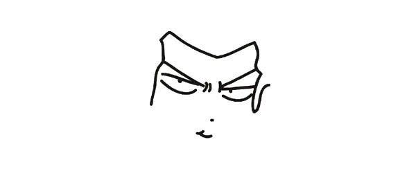2.用一个M行的曲线画出脸型轮廓。