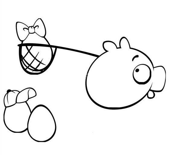 肥猪偷蛋简笔画2