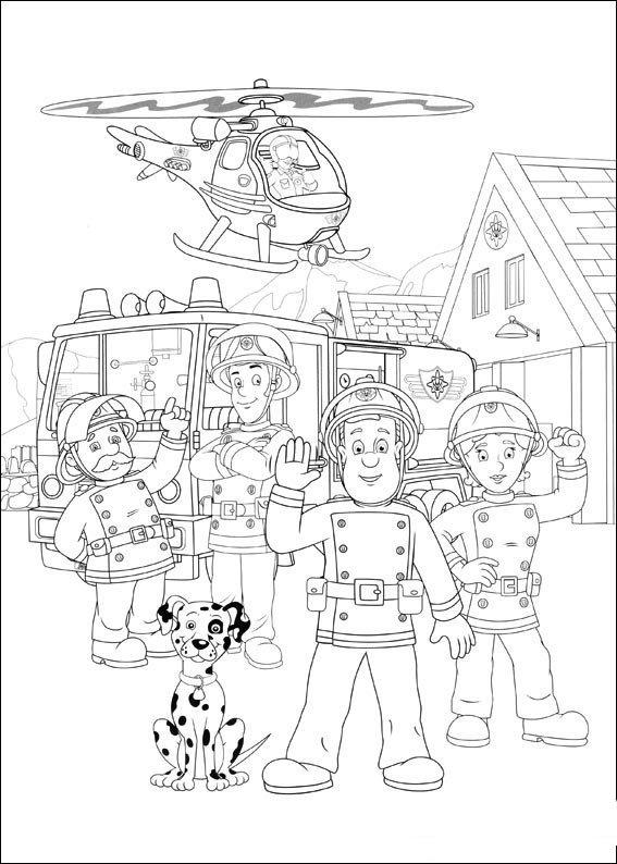 消防员山姆简笔画图片大全