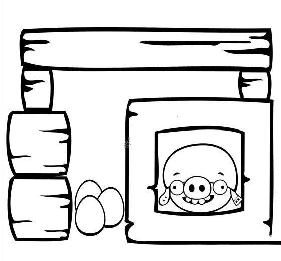 肥猪偷蛋简笔画6