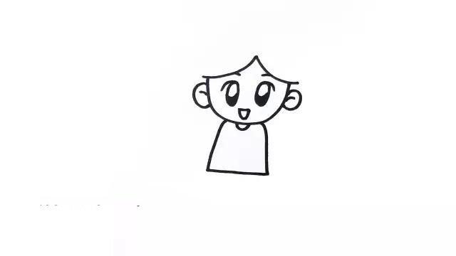 2.在画出头发之前,先把五官和身体画出来。