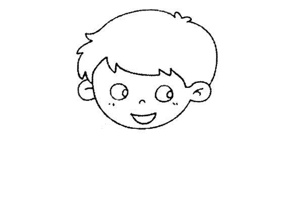 4.画出微笑着的嘴巴。