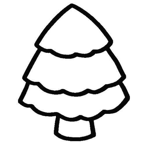 松树简笔画画法