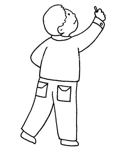 7.画裤兜和脚。